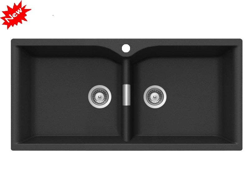 Chậu rửa bát đá Granite HQ9650 (đen)